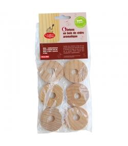 Jetons en bois de cèdre aromatique - 6 pièces - La droguerie écologique