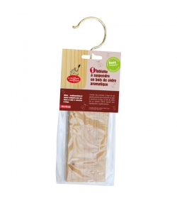 Tablette à suspendre en bois de cèdre aromatique - 1 pièce - La droguerie écologique