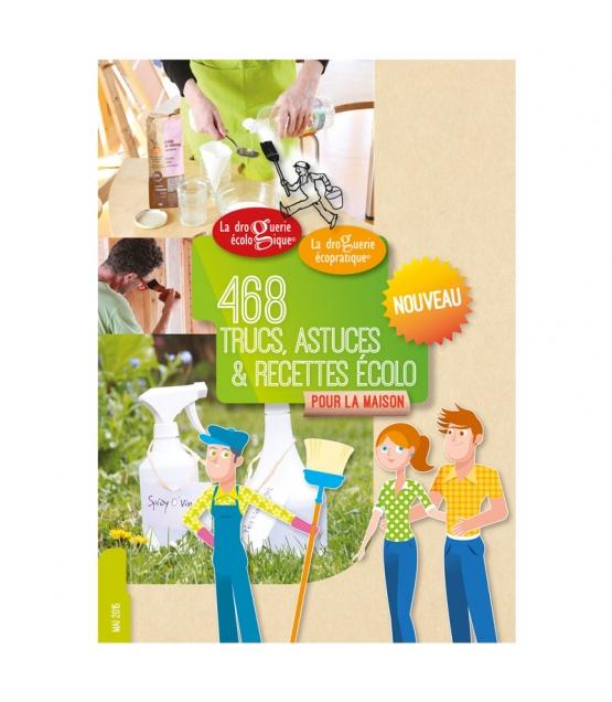 Carnet de 468 trucs, astuces & recettes écolo pour la maison - 1 pièce - La droguerie écologique