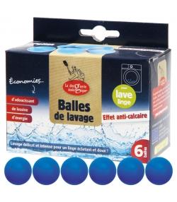 Balles de lavage anti-calcaire - 6 pièces - La droguerie écologique