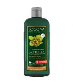 Shampooing reflets cheveux bruns à noirs BIO noisette - 250ml - Logona