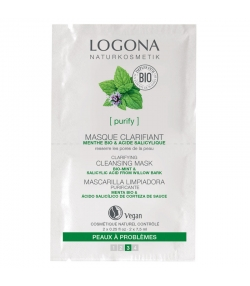 Masque clarifiant BIO menthe & acide salicylique - 2x7,5ml - Logona