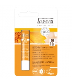 Baume à lèvres solaire BIO IP 10 beurre de karité & jojoba - 4,5g - Lavera Sun