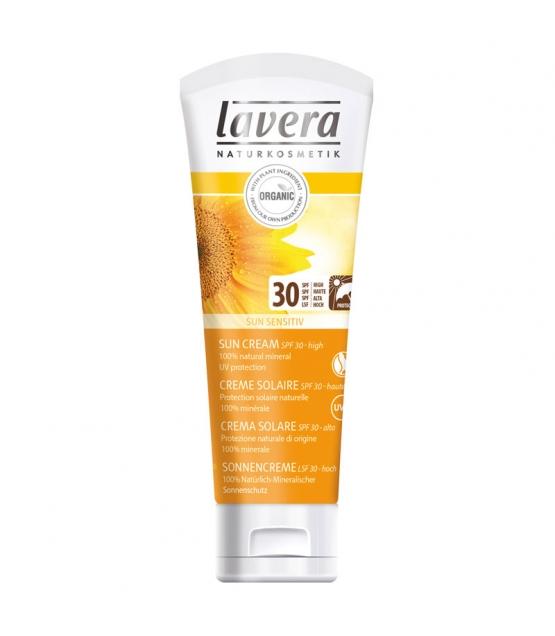 cr me solaire visage corps bio ip 30 mangue tournesol 75ml lavera sun. Black Bedroom Furniture Sets. Home Design Ideas