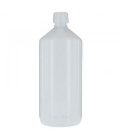 Weisse Veral Plastikflasche 1l mit weissem Schraubverschluss und Sicherheitsring - 1 Stück - Aromadis