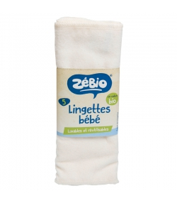 Waschbare Windeln aus BIO-Baumwolle - 5 Stück - Zébio