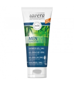 Gel douche 3 en 1 homme BIO bambou & guarana - 200ml - Lavera Men Sensitiv