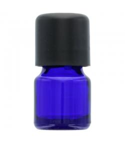 Flacon en verre bleu 5ml avec bouchon codigoutte noir et sécurité enfants - 1 pièce - Aromadis