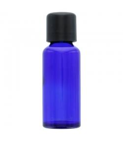 Blaue Glasflasche 30ml mit schwarzer Tropfspitze und Kindersicherheitsverschluss - 1 Stück - Aromadis