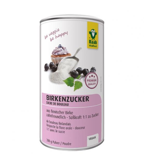 Sucre de bouleau Premium en poudre - Xylit - 300g - Raab Vitalfood