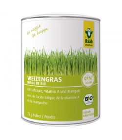 Herbe de blé en poudre BIO - 75g - Raab Vitalfood