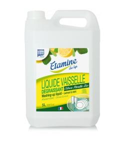 Liquide vaisselle dégraissant écologique citron & menthe - 5l - Etamine du Lys