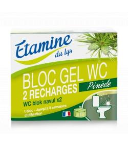 Recharge bloc gel WC détartrant écologique pin & eucalyptus - 2x50ml - Etamine du Lys