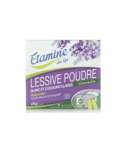 Lessive poudre écologique pour linge blanc & couleurs claires lavandin - 40 lavages - 2kg - Etamine du Lys