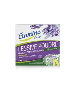 Ökologisches Waschpulver für Weiss- & helle Buntwäsche Lavandin - 80 Waschgänge - 4kg - Etamine du Lys