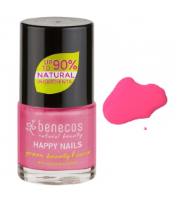 Vernis à ongles brillant Pink forever - 9ml - Benecos