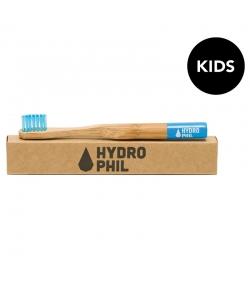 Brosse à dents enfants en bambou Bleu Extra-Soft Nylon - 1 pièce - Hydrophil
