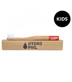 Brosse à dents enfants en bambou Rouge Extra-Soft Nylon - 1 pièce - Hydrophil