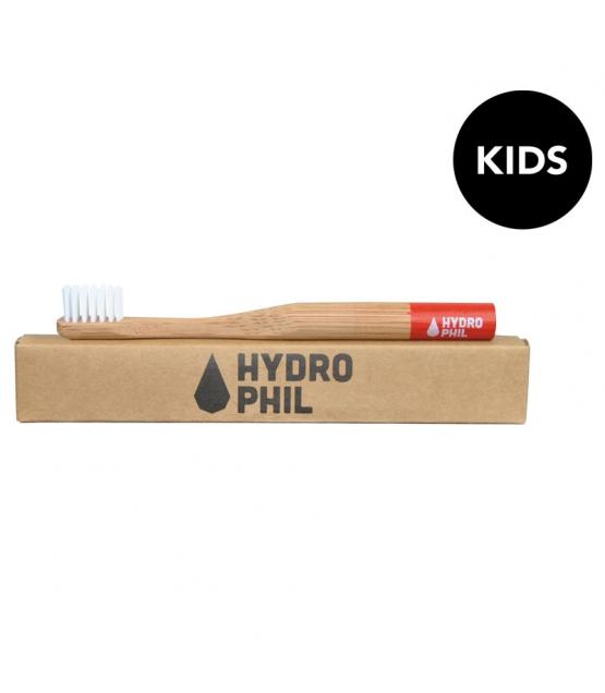 Bambus Kinder Zahnburste Rot Nylon Extraweich 1 Stuck Hydrophil