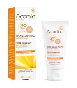 Crème solaire teintée visage BIO IP 30 - 50ml - Acorelle