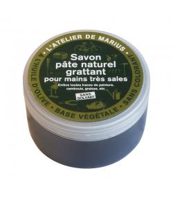 Savon pâte naturel grattant pour mains très sales à l'huile d'olive - 200g - Marius Fabre Le lavoir