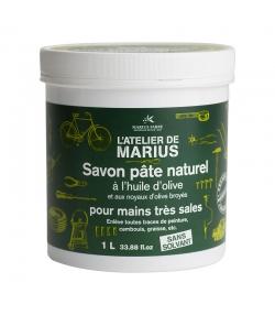 Savon pâte naturel grattant pour mains très sales à l'huile d'olive - 1l - Marius Fabre Le lavoir
