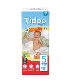 Öko-Höschenwindeln & Bio-Höschenwindeln Grösse 5 Junior 12-18 kg - 1 Paket mit 36 Stück - Tidoo Stand Up