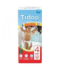 Culottes d'apprentissage écologiques Taille 4 Maxi 8-15 kg - 1 sac de 38 pièces - Tidoo Stand Up
