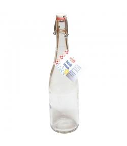 Limonadenflasche aus transparentem Glas 75cl mit mechanischem Porzellan-Verschluss - 1 Stück - ah table !