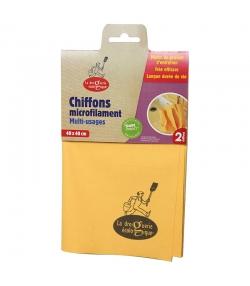 Chiffon microfilament multi-usages jaune & vert - 2 pièces - La droguerie écologique