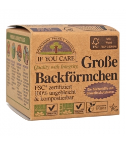 Backförmchen aus Papier, grosses Format - 60 Stück - If You Care