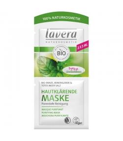 Hautklärende BIO-Maske Minze, Mineralerde & Totes Meer Salz - 2x5ml - Lavera