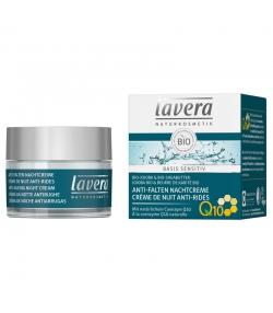 Crème de nuit anti-rides Q10 BIO jojoba & beurre de karité - 50ml - Lavera Basis Sensitiv