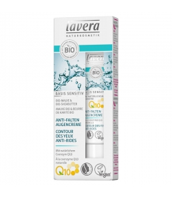 Anti-Falten BIO-Augencreme Q10, Malve & Sheabutter - 15ml - Lavera Basis Sensitiv