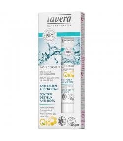 Crème contour des yeux anti-rides Q10 BIO mauve & beurre de karité - 15ml - Lavera Basis Sensitiv