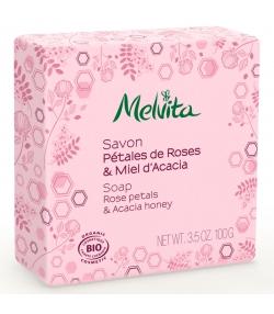 Savon BIO pétales de rose & miel d'acacia - 100g - Melvita