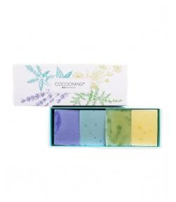 Boîte de 4 savonnettes Turquoise - Cocooning biocosmetics