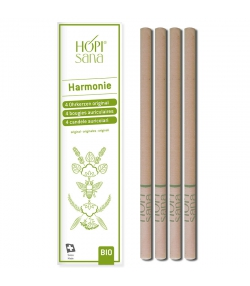 Bougies auriculaires vertes BIO Harmonie - 4 pièces - HOPIsana