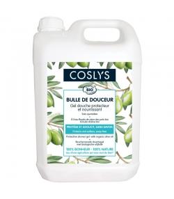 """Gel douche protecteur & nourrissant """"bulle de douceur"""" BIO reine des prés & olive - 5l - Coslys"""
