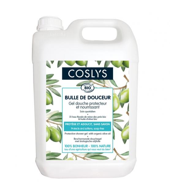 "Schützendes & nährendes BIO-Duschgel ""Bulle de Douceur"" Mädesüss & Olivenöl - 5l - Coslys"