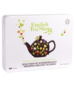 Coffret cadeau sélection classique de thés & infusions BIO - 36 sachets - English Tea Shop