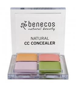Palette correctrice CC BIO Beige, Rose, Mauve & Vert - 5g - Benecos