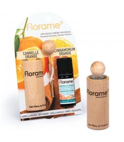 Provenzalischer Aroma Diffusor & 1 ätherisches Öl Zimt-Orange 10ml - Florame