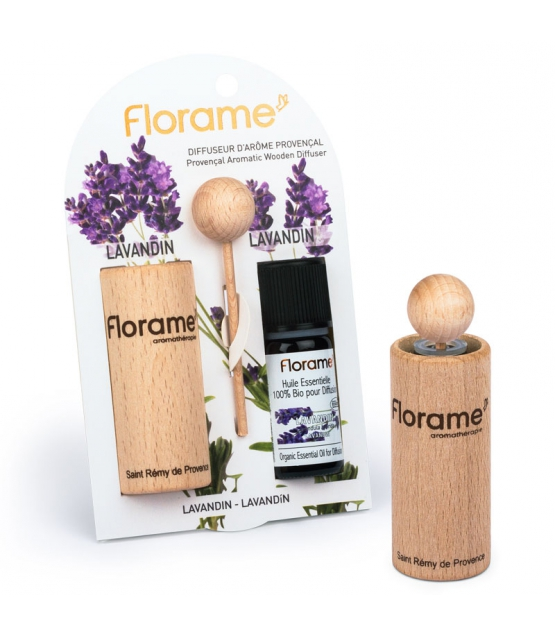 diffuseur d 39 ar me proven al 1 huile essentielle lavandin 10ml florame. Black Bedroom Furniture Sets. Home Design Ideas