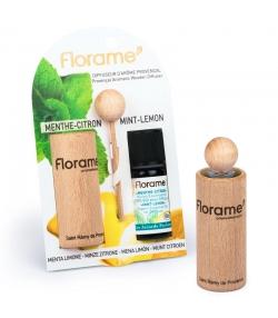 Provenzalischer Aroma Diffusor & 1 ätherisches Öl Minze-Zitrone 10ml - Florame