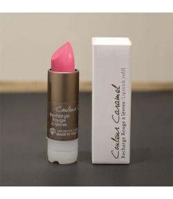 Recharge rouge à lèvres nacré naturel N°52 Rose lumière - 3,5g - Signature by Couleur Caramel
