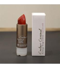 Recharge rouge à lèvres nacré naturel N°55 Rouge précieux - 3,5g - Signature by Couleur Caramel