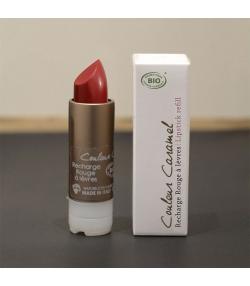Recharge rouge à lèvres nacré BIO N°57 Cerise gourmande - 3,5g - Signature by Couleur Caramel