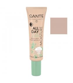 24H Feuchtigkeits-BIO-Foundation-Creme N°01 Ivory - 30ml - Sante