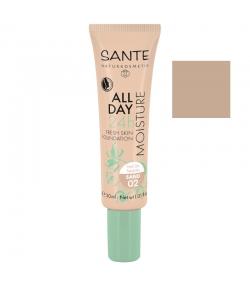 24H Feuchtigkeits-BIO-Foundation-Creme N°02 Sand - 30ml - Sante